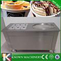 Thailand style 304 Stainless steel industrial fried rolled ice cream machine with temperature control