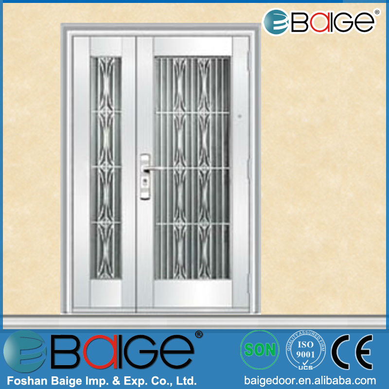 BG-SS9011 stainless steel storm /security door design