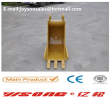 Backhoe excavator trenching buckets for E416E312 with capacity 0.1-0.8CBM