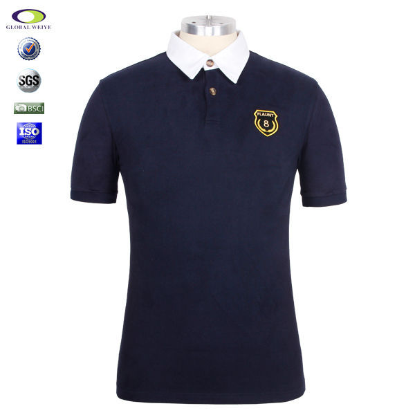 China Factory New Design 200 gsm Men 100% Polo T shirt With Embroidery Logo
