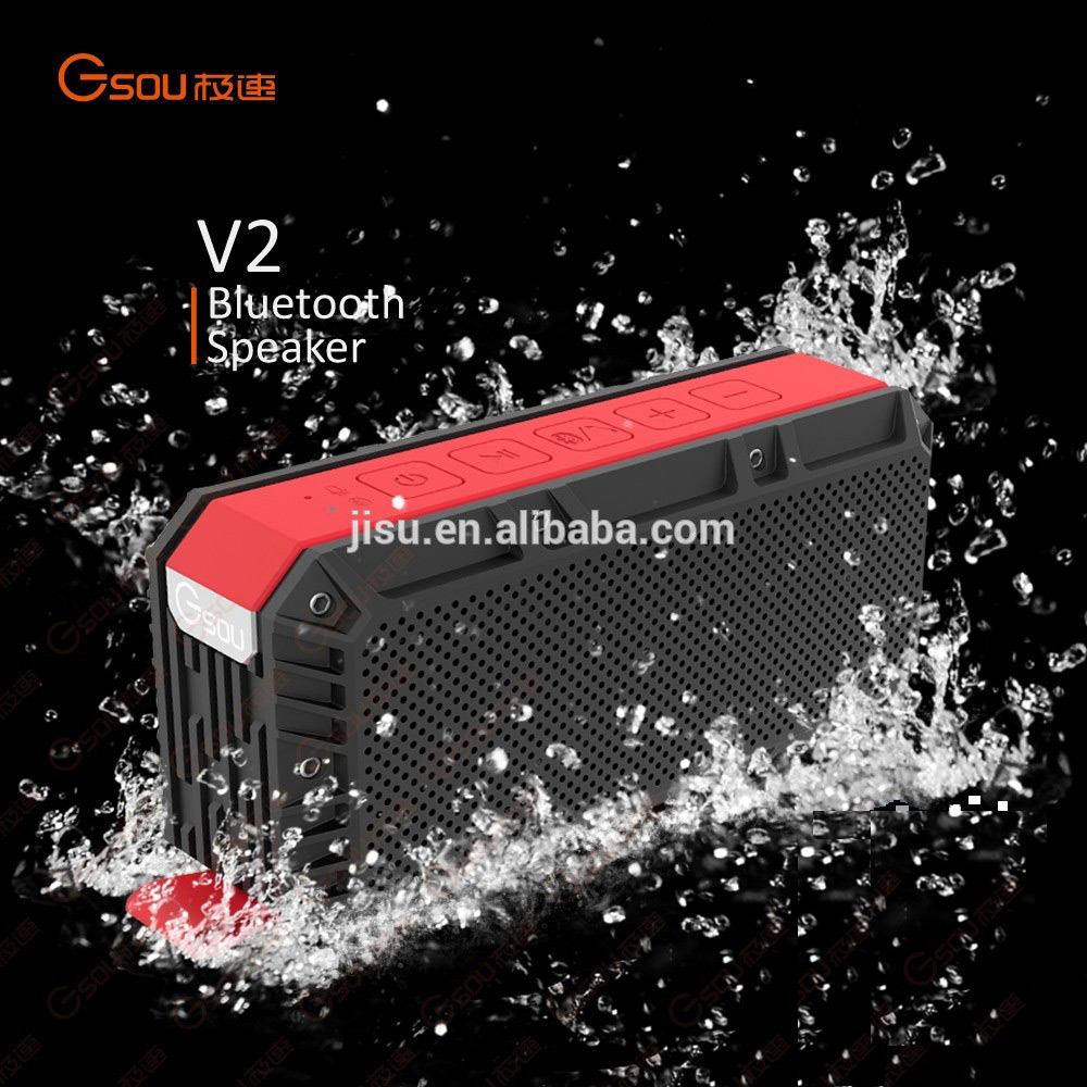 Portable Waterproof Shockproof Wireless Stereo Outdoor Shenzhen Bluetooth Speaker