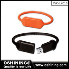 Hot selling bracelet usb flash drive 8gb wristband usb memory stick with custom logo(PVC-LY010)