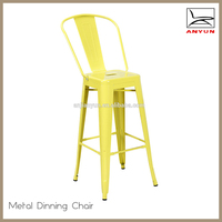 Modern high back metal dining chair for dining room furniture