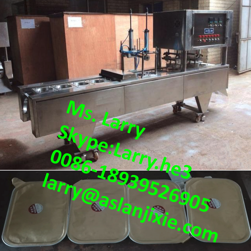 bowl sealer with aluminium foil/automatic carton sealing machine/Aluminum foil tray sealing machine