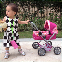 China factory 2015 top sale new fashion kids push cart, baby child toy doll stroller