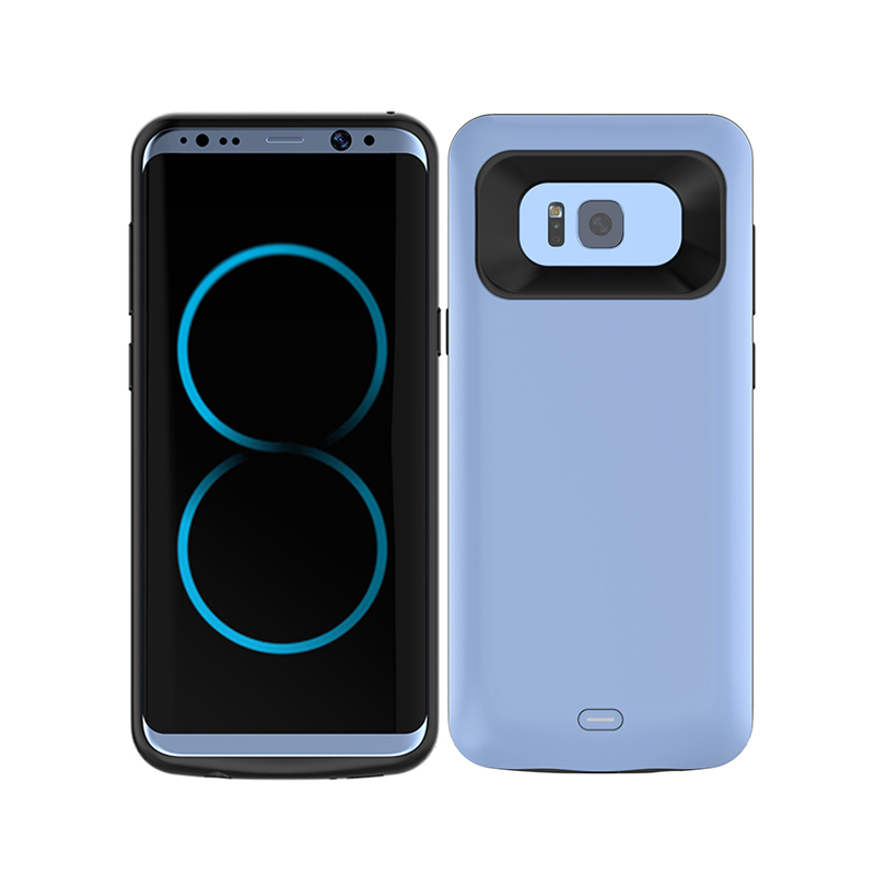 5500mah Portable bumper protective design mobile battery wireless charger phone Case for Samsung Galaxy S8
