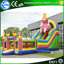 Pink color Princess cheap water slide inflatable bouncer slide for sale