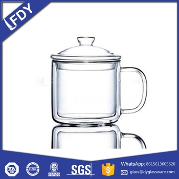 Wholesale Factory Supplied Borosilicate Glass Double Wall Cup