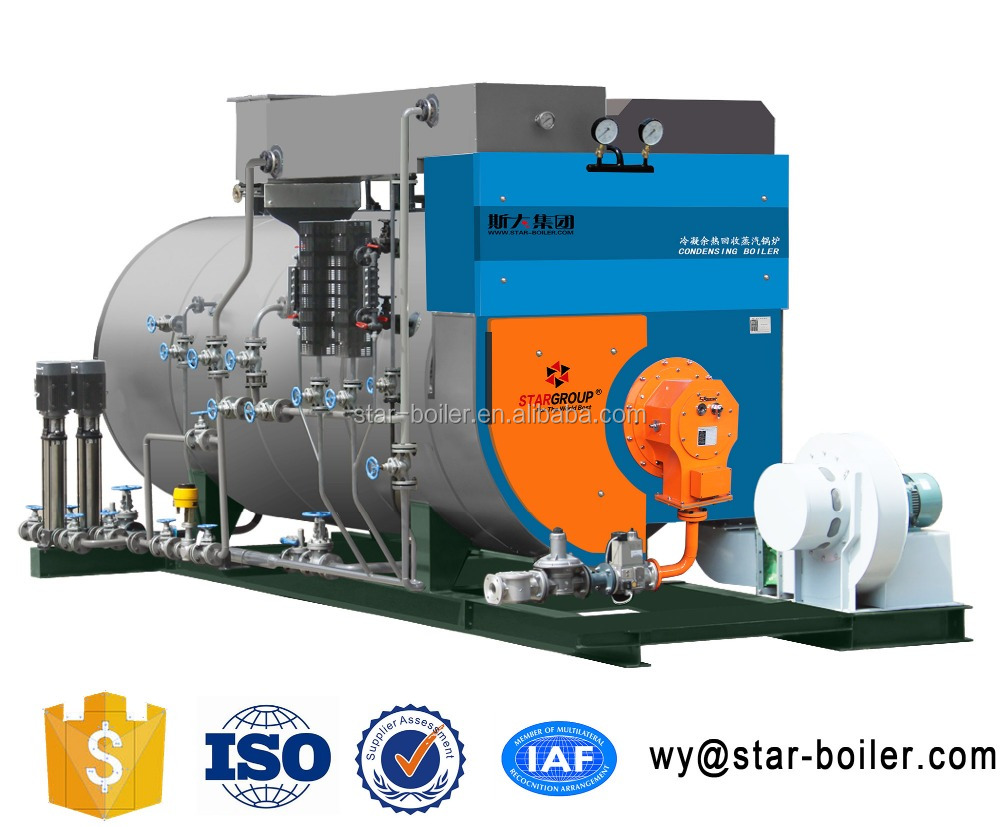WNS high-tech save energy gas fired industrial steam output boiler