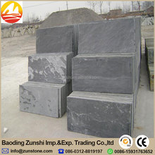 Black Color Natural Slate For Floor Paving