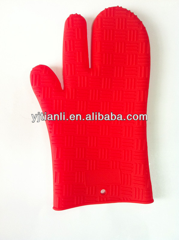 Food grade silicon best high quality red oven mitt baking glove