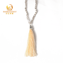 Fashion long tassel necklace beads necklace 2018