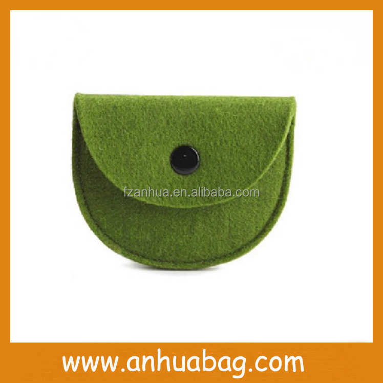cute coin sorter bag felt wallet
