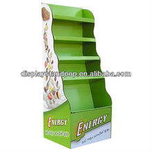 brownies/Walnut Cookie/Banana Chocolate Roll hot sales pop cardboard flooring display stand for mass marketing