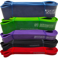 "208cm/41"" Crossfit power band, resistance strength band, pull-up band"