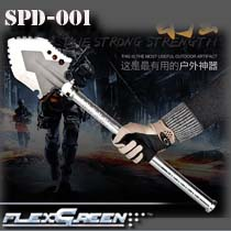Foldable outdoor carbon steel multifunction military spade