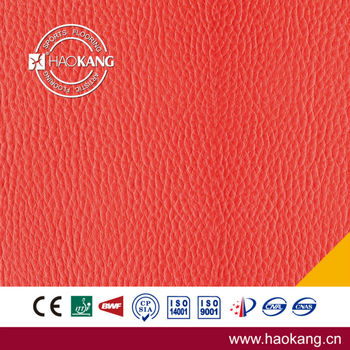 3.5 / 4.5 mm Litchi Pattern PVC Indoor Table Tennis Courts Sports Flooring Approvaled by ITTF