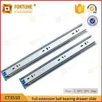 Slide type telescopic ball bearing cabinet drawer guides