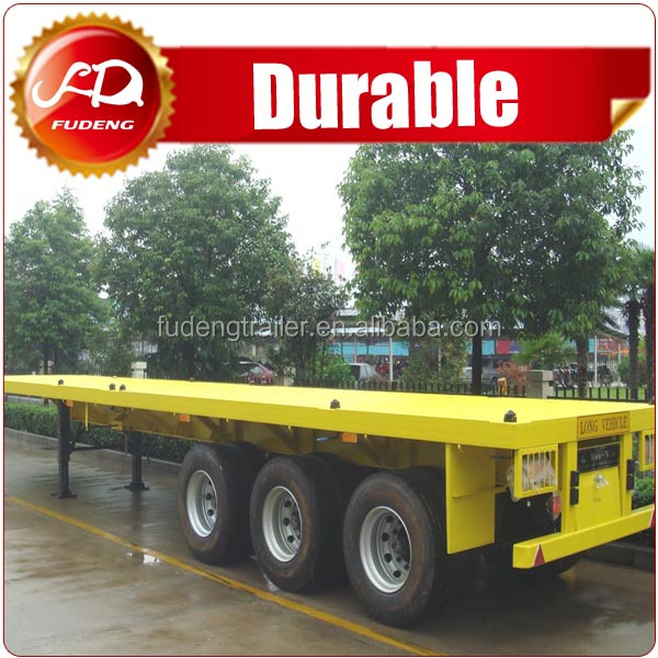 Widely used transport container flatbed semi-trailer truck for sale