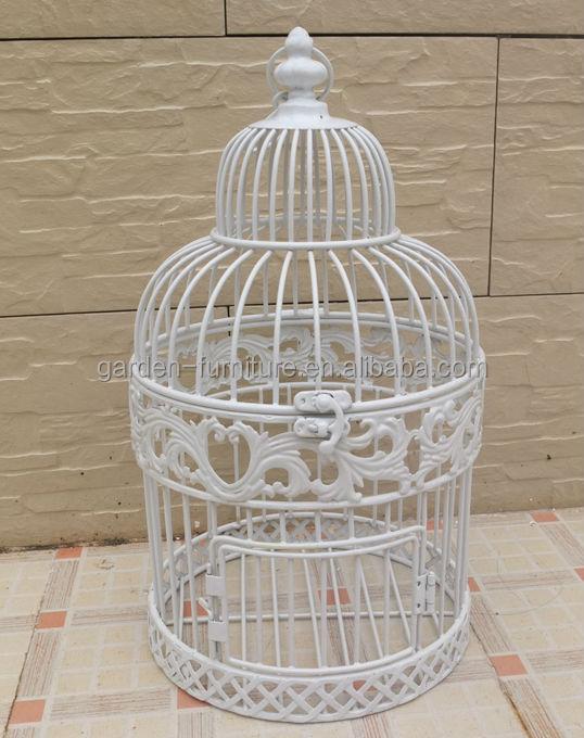 Vintage Elegant Painted White Round Small Dome Top Birdcages Cheap Bird Cagesbird Cage Weddingbird Manufacturer