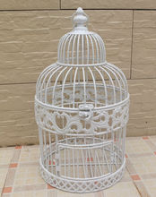 vintage elegant painted white round small dome top birdcages cheap bird cages,bird cage wedding,bird cage manufacturer