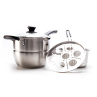 304 stainless steel Multi-function cooking pot milk pot cookware kitchenware frying pan noodle cookware set 697010393023