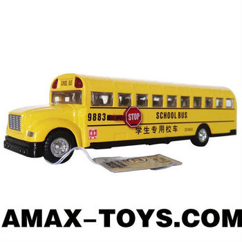 dc-60751205 mini school bus for sale emulational Die Cast Pull Back School Bus Model