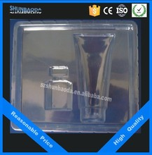 Eco Friendly cosmetic packing, clear plastic blister packaging,cosmetic thermoformed tray