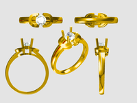 New Design Gold Ring Models Jewelry Cad Design --5382