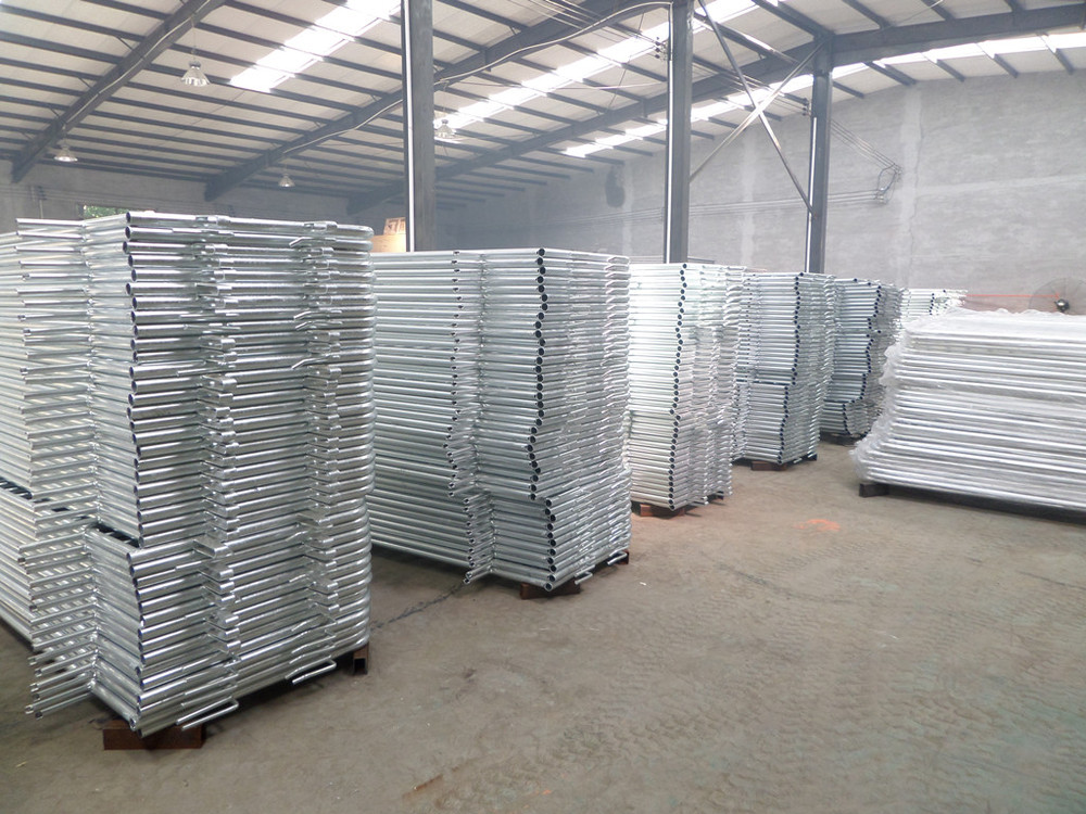 HDGL 8' - Bridged FeetTraffic Safety Control Steel Barricade/ Traffic Safety Control Steel Barricades 8' - Flat Feet