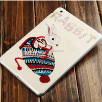 Tablet PU leather printing case cute cover for Ipadmini