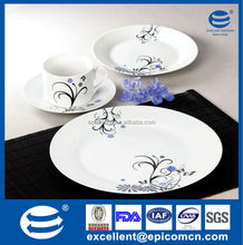 high quality with best price 19pcs round porcelain dinner plates and tea set