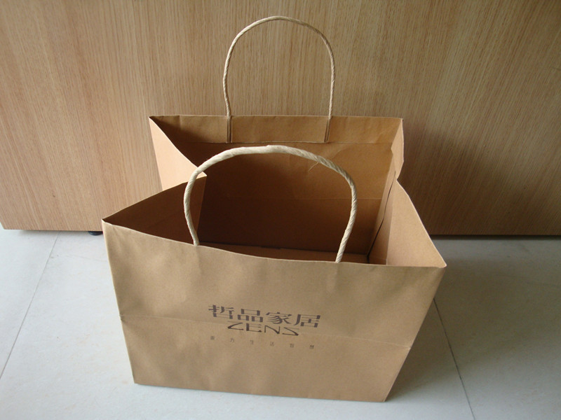 Wholesale Custom UV logo Big Paper Bag