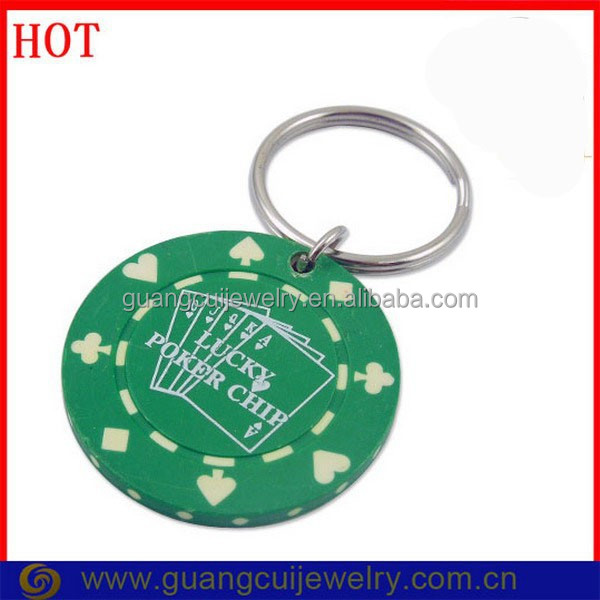 Welcome ODM/OEM poker chips keychain custom
