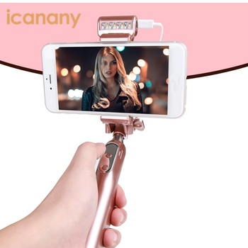 2017 Best factory selfie stick mobile phone photography metal mini selfie stick