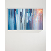 Wall Art White Frame Abstract Canvas Artwork Painting For Hotel Painting