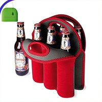 Picnic Time Six Pack Insulated Beverage Bottle Tote Insulator Extra Durable Neoprene Beer Carrying Cooler Bag