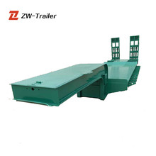 13 Meters Long Vehicle Best Quality Hydraulic 50 Tons Low Bed Truck Trailer for Crane Transportation