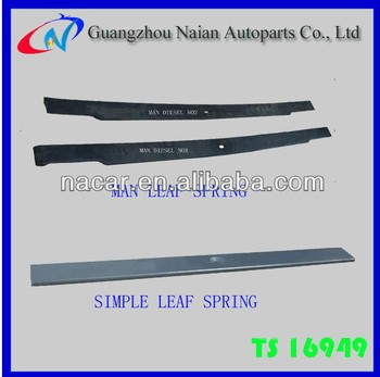 hot selling parabolic bus SUP9 taper leaf spring