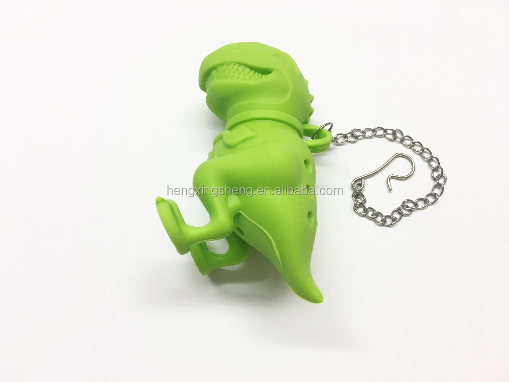 Wholesales animal shape silicone tea friend infuser / strainer