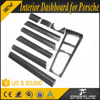 Carbon Fiber Material 9Pcs/Set Interior Dashboard Moulding Trims LHD for porsche cayenne 15-16