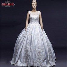 Lace decoration custom made wedding dress bridal gowns