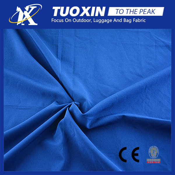 high elastic solid color waterproof polyester 4 way stretch pongee fabric