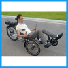 250W Two Front Wheeled Bicycle Three Wheel Rear Suspension Electric Recumbent Trike Adult