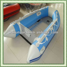 Cheap rowing inflatable boat with aluminum floor