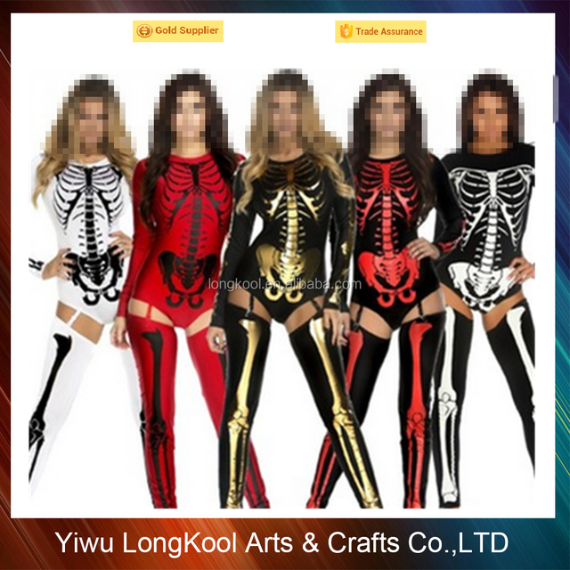Wholesale cheap cosplay skeleton costume print patterns halloween skull costume ideas