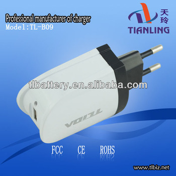 2.1A Power Adapter,Usb Wall Charger With Led Lamp,Eu Plug Charger