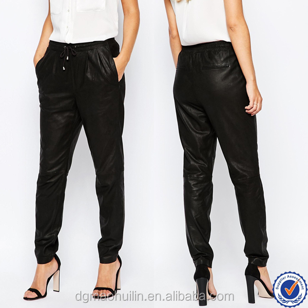 Excellent Vince Mixed Leather Jogger Pants In Black  Lyst