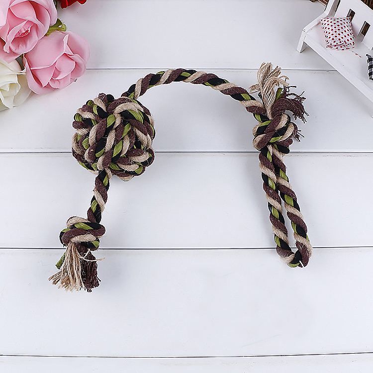 Six Style Innovative Pet Toys Cotton Rope Bone Dog Toy Small Ball for Dogs
