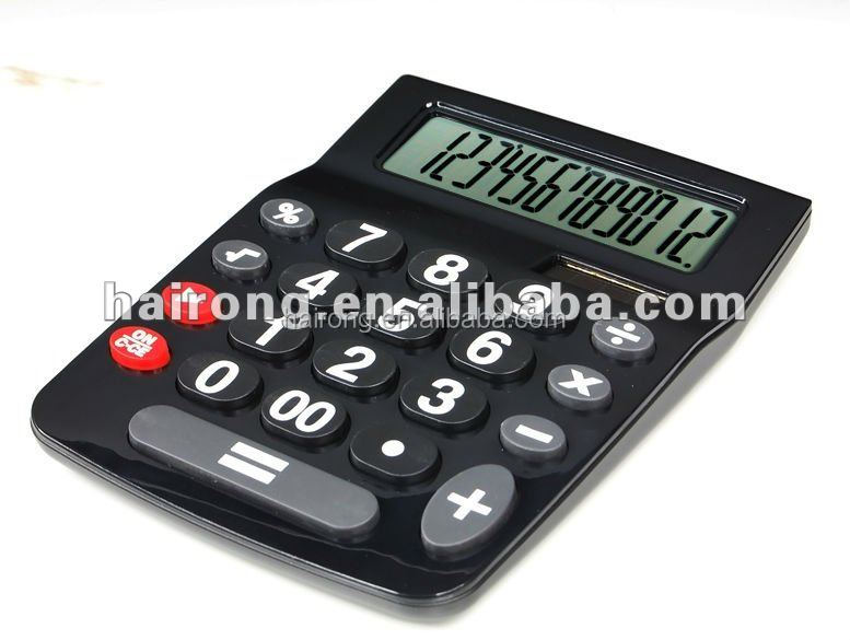 2014 Hairong 12 digit desktop calculator with solar power